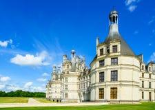 Chateau de Chambord, μεσαιωνικό γαλλικό κάστρο της ΟΥΝΕΣΚΟ. Loire, φράγκο Στοκ Εικόνες