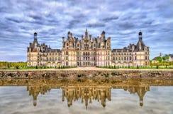 Chateau de Chambord, το μεγαλύτερο κάστρο στην κοιλάδα της Loire - Γαλλία στοκ εικόνες