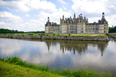 Chateau de Chambord. In Loire valley, France royalty free stock photography