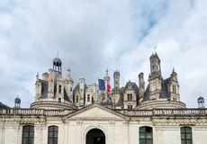 Chateau de chambord,architecture royal medieval french castle Stock Photos