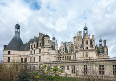 Chateau de chambord,architecture royal medieval french castle Royalty Free Stock Image
