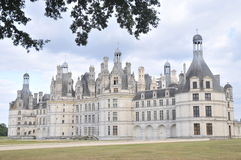 Chateau De Chambord. The beautiful Chambord castle is one of the most famous castles in the loire valley of france. A sight which is absolutely astonishing Royalty Free Stock Photos