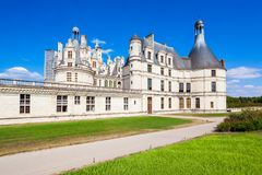 Chateau de Chambord castle, France royalty free stock images