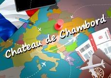 Chateau de Chambord city travel and tourism destination concept stock illustration