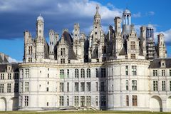 Chateau DE Chambord, de Vallei van de Loire, Frankrijk Stock Foto's