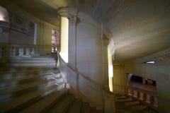 Chateau de Chambord Double helix staircase. Loir-et-Cher,France-January 24,2018: Chateau de Chambord Double helix staircase Stock Photo
