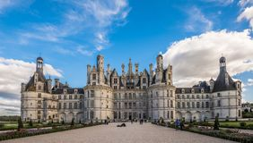 Chateau de Chambord, the largest castle in the Loire Valley, France stock photo