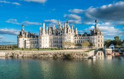 Chateau de Chambord, the largest castle in the Loire Valley, France stock image