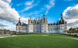 Chateau de Chambord, the largest castle in the Loire Valley, France royalty free stock photo