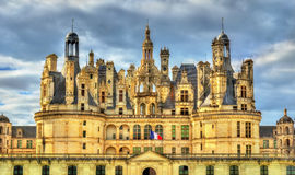Chateau de Chambord, the largest castle in the Loire Valley - France royalty free stock photos