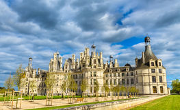 Chateau de Chambord, the largest castle in the Loire Valley - France stock photography