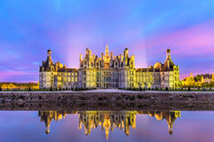 Chateau de Chambord, the largest castle in the Loire Valley - France. Chateau de Chambord, the largest castle in the Loire Valley. A UNESCO world heritage site Stock Photos