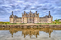 Chateau de Chambord, the largest castle in the Loire Valley - France stock images
