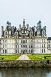 The Chateau de Chambord at Chambord, Loir-et-Cher, France, is one of the most recognisable chateaux in the world because royalty free stock photo