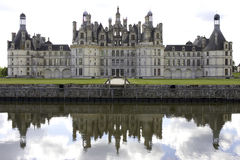 Chateau de chambord, loire valley, france. Horizontal royalty free stock image
