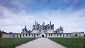 Chateau de Chambord, Loire Valley, France. South façade of chateau de Chambord, considered the most magnificient Chateau de la Loire stock image