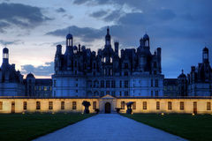 Chateau de Chambord night, Loire Valley, France Royalty Free Stock Photography