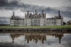Chateau de Chambord. A reflection of Chateau de Chamboard, France Royalty Free Stock Image