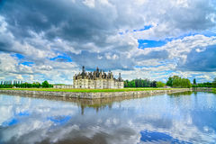Chateau de Chambord, Unesco medieval french castle and reflectio Royalty Free Stock Photography