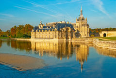 Chateau de Chantilly stock images