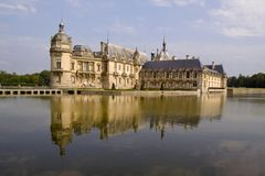 Chateau DE Chantilly stock afbeeldingen