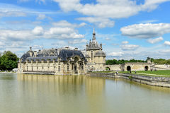 Chateau de Chantilly - France. Chateau de Chantilly, historic chateau located in the town of Chantilly, France royalty free stock images
