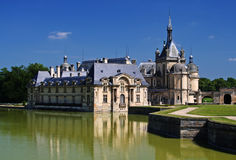 Chateau de Chantilly near Paris royalty free stock photos
