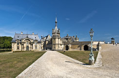 Chateau de Chantilly. Walking pass to Chantilly castle Stock Photo