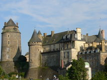 Chateau de Chateuagirons ( France ). View Châteaugirons (Kastell-Geron) castle in the Ille-et-Vilaine, Brittany (France Royalty Free Stock Image
