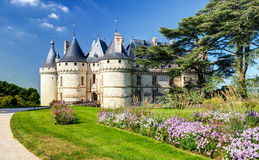Chateau de Chaumont-sur-Loire, France. This castle is located in the Loire Valley, was founded in the 10th century and was rebuilt in the 15th century royalty free stock image