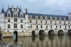 Chateau de Chenonceau在卢瓦尔河流域 库存照片