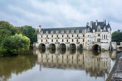 Chateau de Chenonceau在卢瓦尔河流域 库存图片