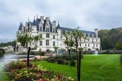 Chateau de Chenonceau在卢瓦尔河流域 免版税库存图片