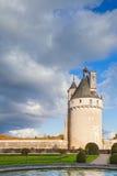 Chateau de Chenonceau,法国塔  免版税库存图片