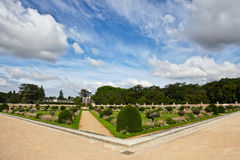 Chateau de Chenonceau. Garden at Chateau de Chenonceau in Loire Valley, France Royalty Free Stock Image
