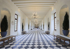 The Chateau de Chenonceau, ballroom, France Stock Photos