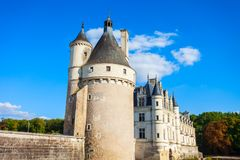 Chateau de Chenonceau castle, France stock photography