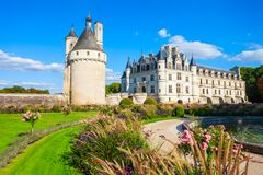 Chateau de Chenonceau castle, France stock photo