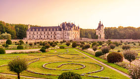 The Chateau de Chenonceau, castle in France Royalty Free Stock Images