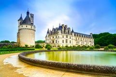 Chateau de Chenonceau castle. Loire, France. Chateau de Chenonceau royal medieval french castle and garden. Chenonceaux, Loire Valley, France, Europe. Unesco royalty free stock photography