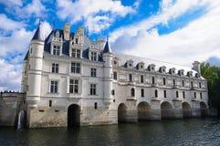 Chateau De Chenonceau/Chenonceau slott Arkivfoto