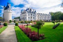 Chateau De Chenonceau/Chenonceau slott Arkivfoton