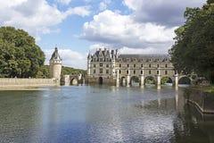 Chateau de Chenonceau. Chenonceaux, France - August 09, 2016: Chateau de Chenonceau royal medieval french castle stock photography