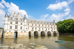 Chateau de Chenonceau. CHENONCEAUX FRANCE - JUN 15: Chateau de Chenonceau of France on June 15, 2014. Chateau de Chenonceau was built in 1514–1522 on the royalty free stock photography