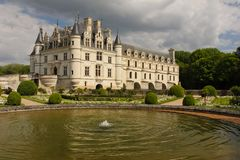 The Chateau de Chenonceau. Chenonceaux. France Royalty Free Stock Photo