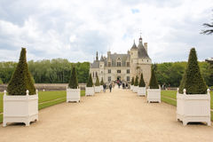 The Chateau de Chenonceau. Chenonceaux. France Royalty Free Stock Photography