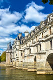 Chateau de Chenonceau on the Cher River - France Stock Photo