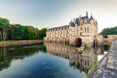 The Chateau de Chenonceau in the evening, France Stock Photo