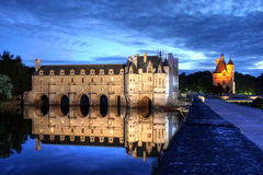 Chateau de Chenonceau, France. Chateau de Chenonceau, near the village of Chenonceaux in the Loire Valley is said to be the most visited castle in France after Stock Images
