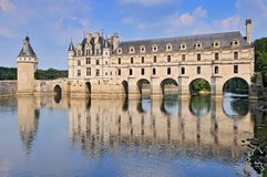 Chateau de Chenonceau France. This castle is located near the small village of Chenonceaux in the Loire Valley was built in the 15 16 centuries and is a royalty free stock photography